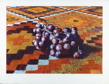 Grapes on Rug 1979 Silkscreen 31 1/4 x 24 in.
