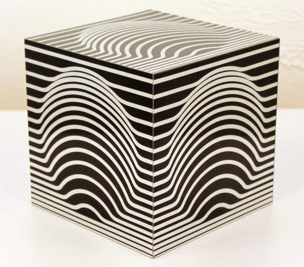 Black and White Cube Acrylic