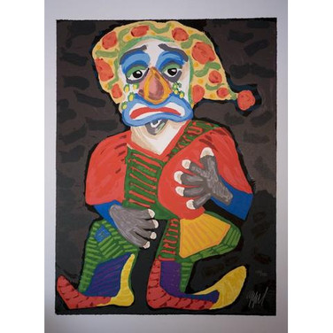 Karel Appel 'Il Pagliacci' 1984 Lithograph on paper 198/250 199/250 Hand-signed and numbered