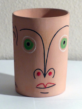 Buveur aux yeux verts  1958 Partially glazed ceramic mug 5.12 x 4.33 in. 31/50 Hand-signed on bottom