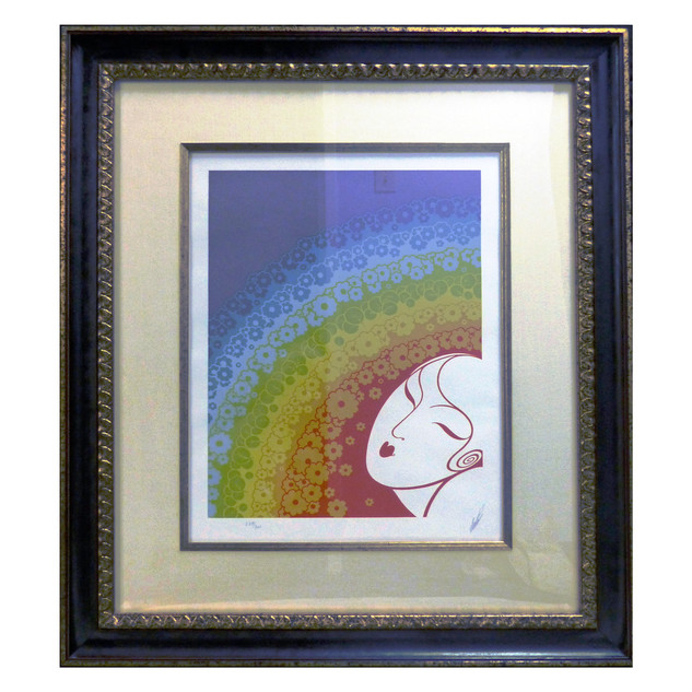 Rainbow in Blossom Serigraph 18 x 13 1/2 in. 229/300 Hand-signed and numbered