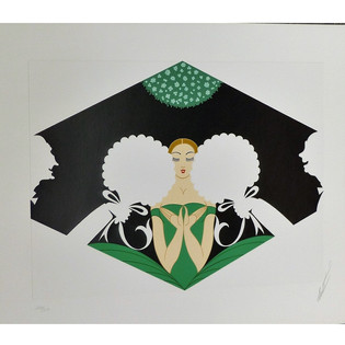 The Suitors Serigraph 15 x 19 in. 272/300 Hand-signed and numbered