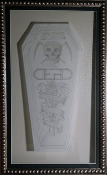 New Year's 2004 (The Grateful Dead) 2004 Graphite on tracing paper 22 x 11 in. 30 1/2 x 18 1/2 in. framed Hand-signed lower right