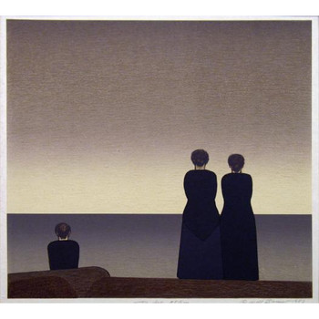 Will Barnet 'Peter Grimes' 1984 Lithograph on paper 198/250 199/250 Hand-signed and numbered