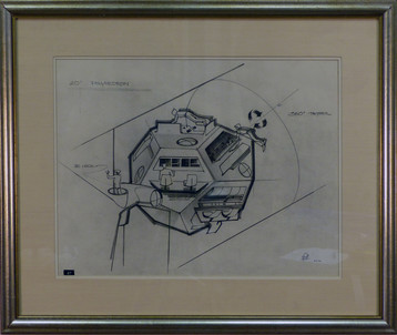 Polyhedron Graphite on paper 31 x 38 in. Hand-signed