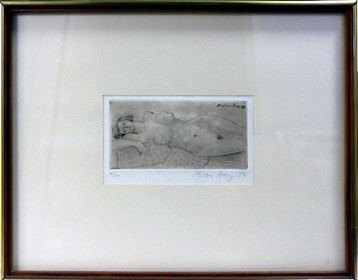 Reclining Woman 1941 Etching and aquatint on wove paper 13 x 14 3/4 in. 30/100 Hand-signed lower right