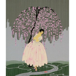 Blossom Umbrella Serigraph 20 x 15 in. 261/300 Hand-signed and numbered