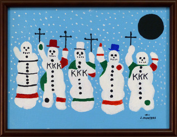 Snowmen of the South  2003 Acrylic on canvas 11 1/2 x 8 1/2 in. Hand-signed and dated