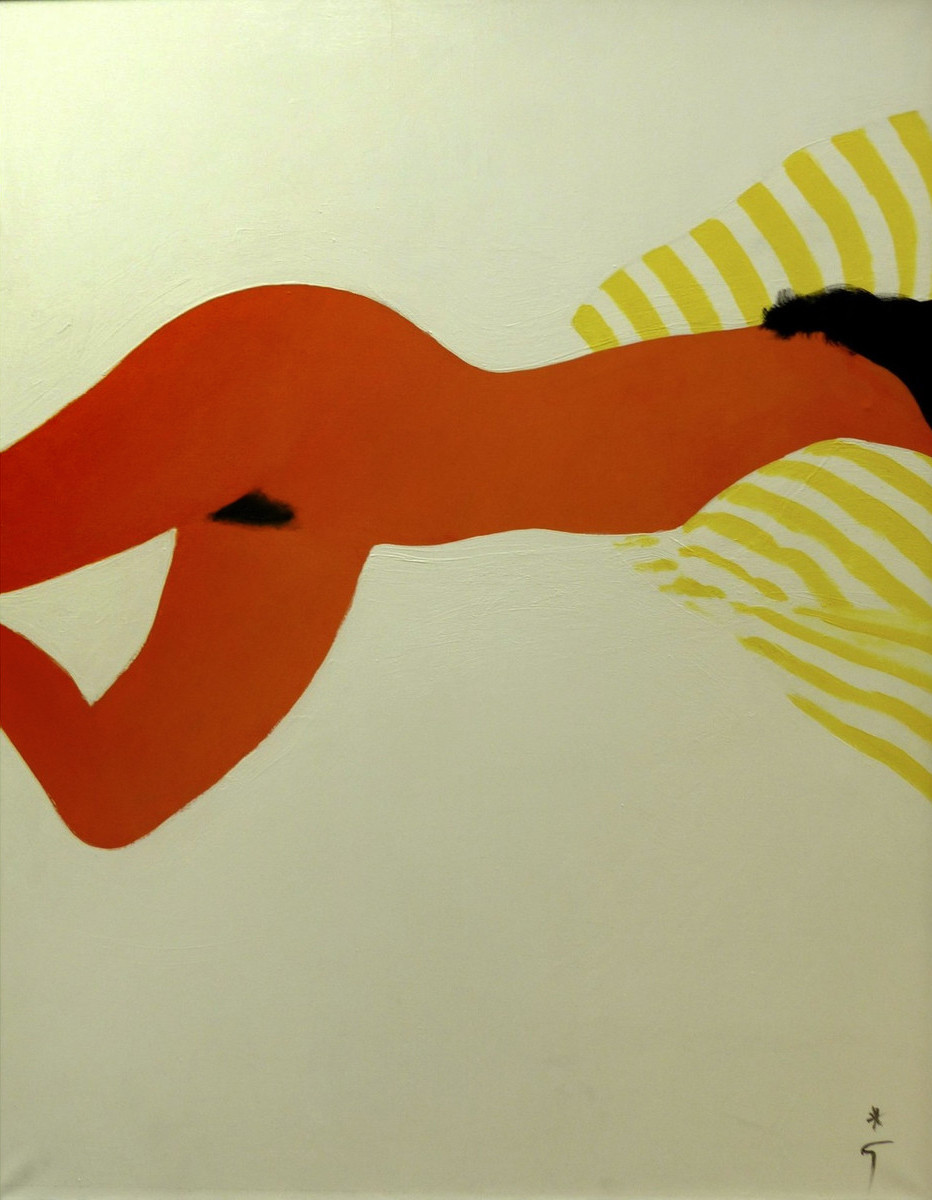 Soliel (Nude) Acrylic on canvas 46 x 35 in. Hand-signed