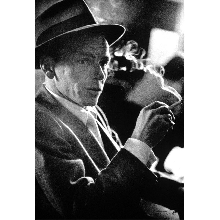 Frank Sinatra on 'Suddenly' Set  1954 Silver gelatin print 15 x 11 in. Edition of 4 Hand-signed and dated