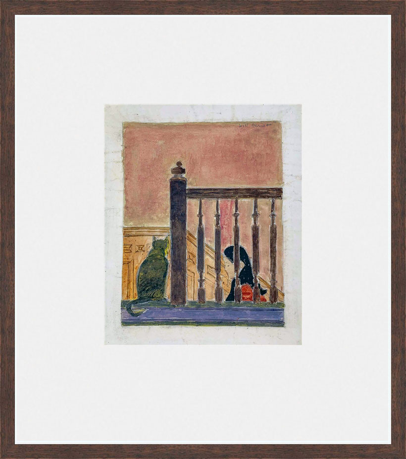 Study for the Bannister 1970 Gouache on paper 8 x 7 in. 16 x 14 in. framed Hand-signed