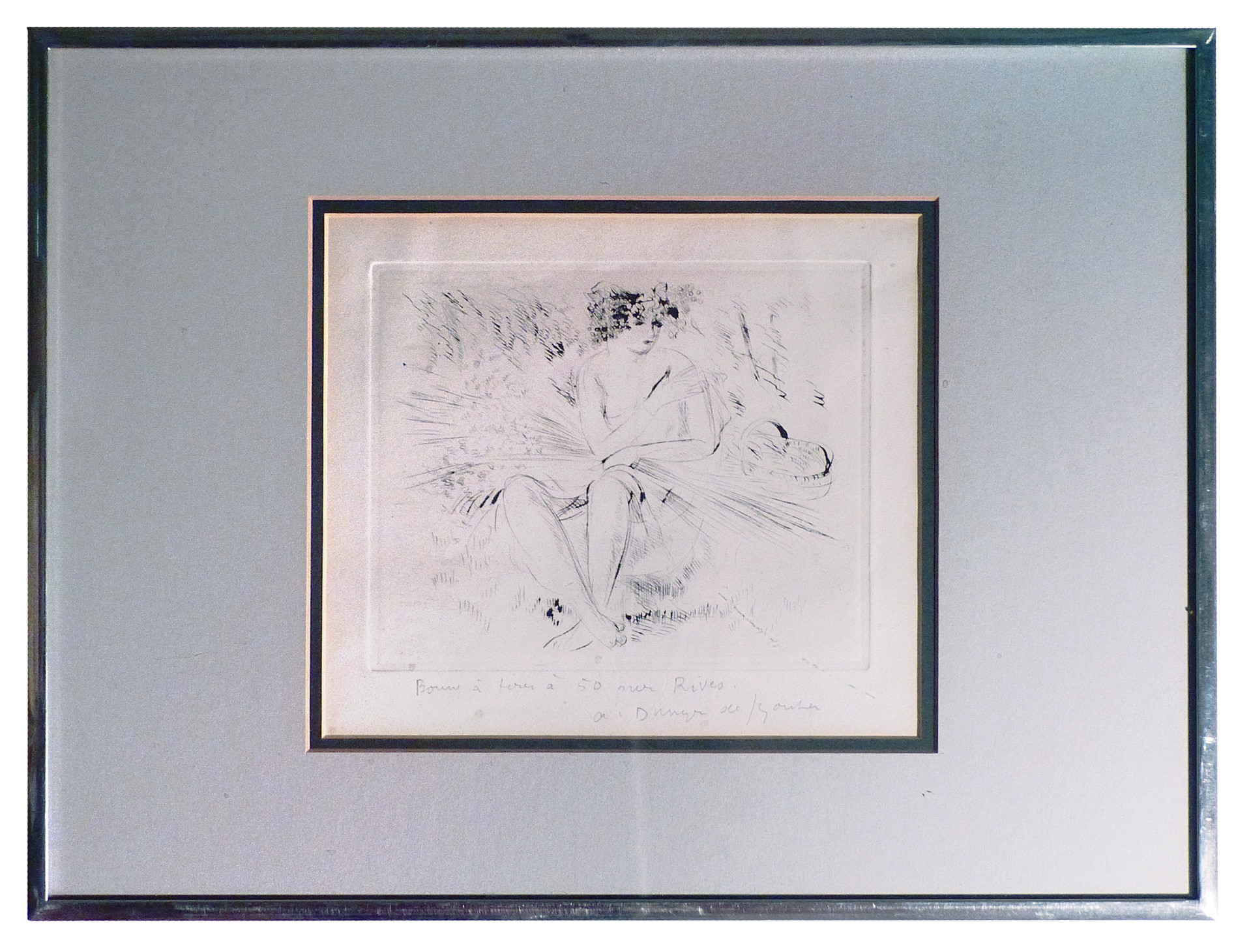 Bon a Tirer 1965 Etching on rives paper 8 x 16 in. Hand-signed