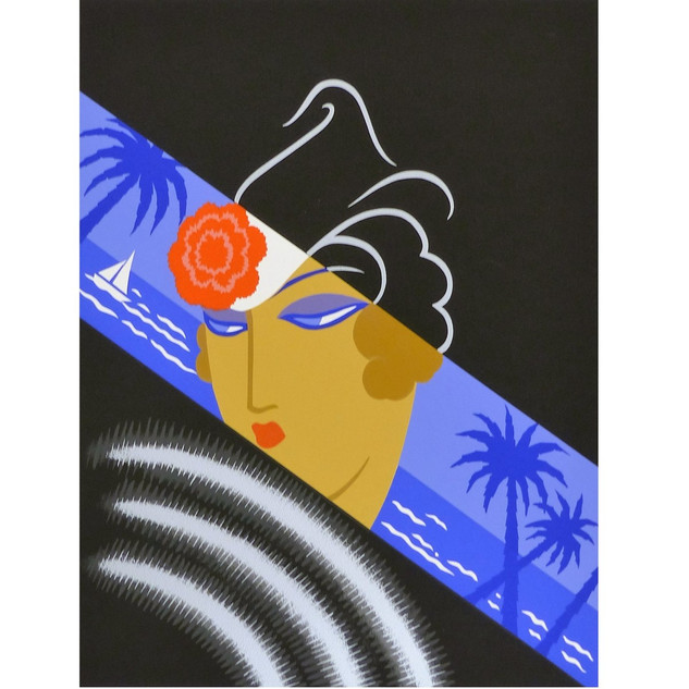 Winter Resorts Serigraph 21 1/2 x 17 in. 125/260 Hand-signed and numbered
