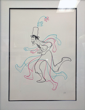 Marcel Marceau  Lithograph 28 1/2 x 20 in. 38 1/2 x 30 in. framed 93/125 Hand-signed and numbered