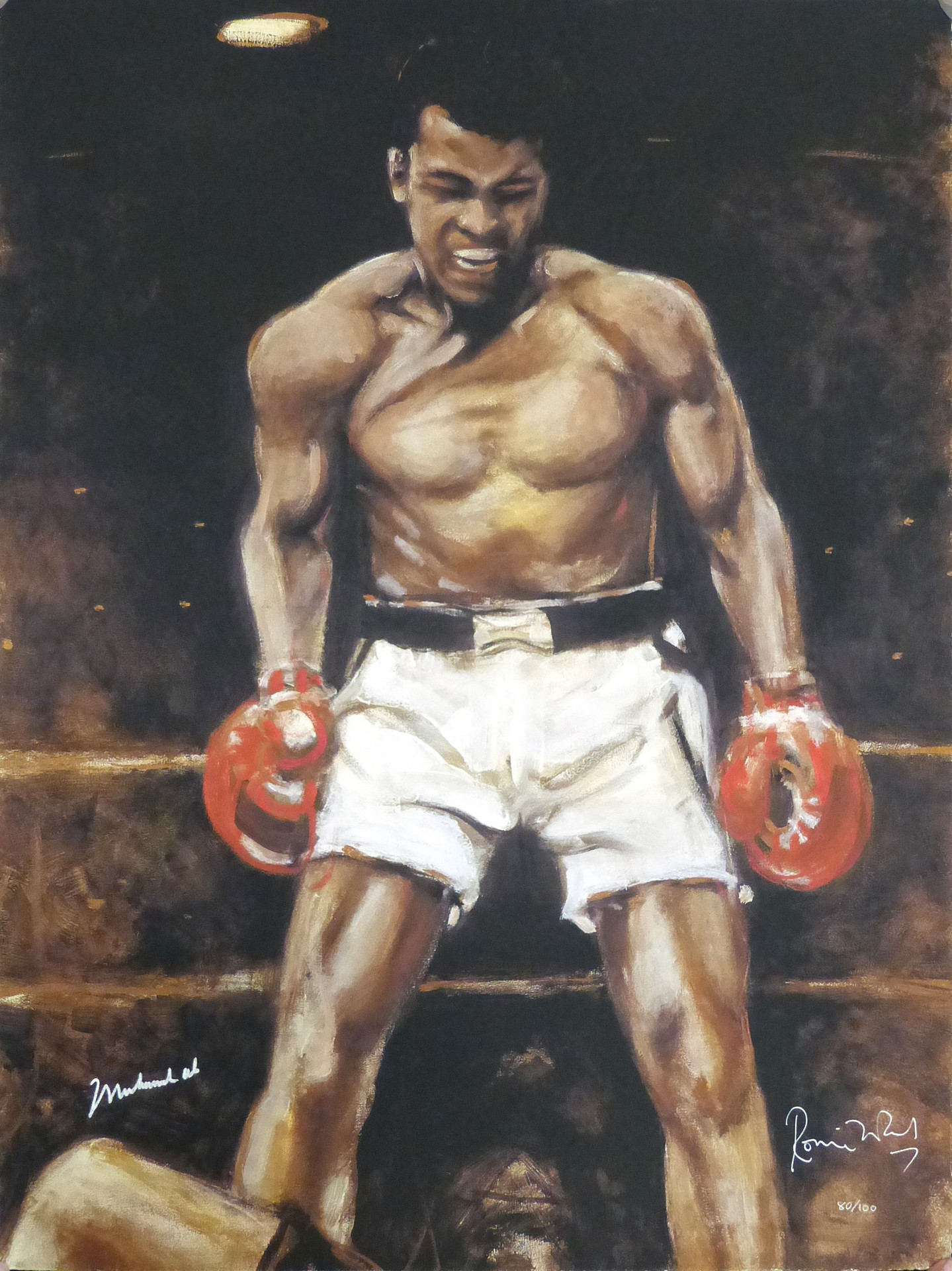 Ali  2002 28 1/2 x 21 1/2 in. 80/100 Hand-signed and numbered by artist and Muhammad Ali