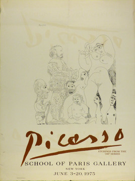 School of Paris Gallery June 20, 1975 Lithograph poster 33 x 24 1/2 in.