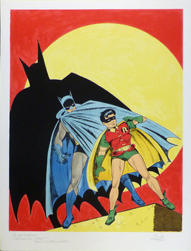 Batman and Robin 1978 Lithograph 31 1/2 x 24 in. Hand-signed and dedicated