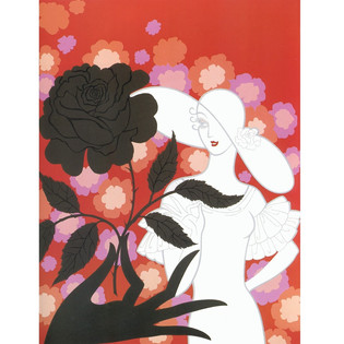 Black Rose Serigraph 25 x 19 in. AP Hand-signed and numbered