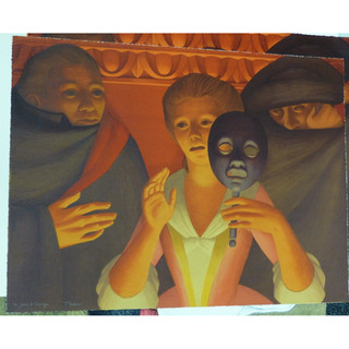 George Tooker 'Un Ballo in Maschera' 1984 Lithograph on paper 198/250 199/250 Hand-signed and numbered