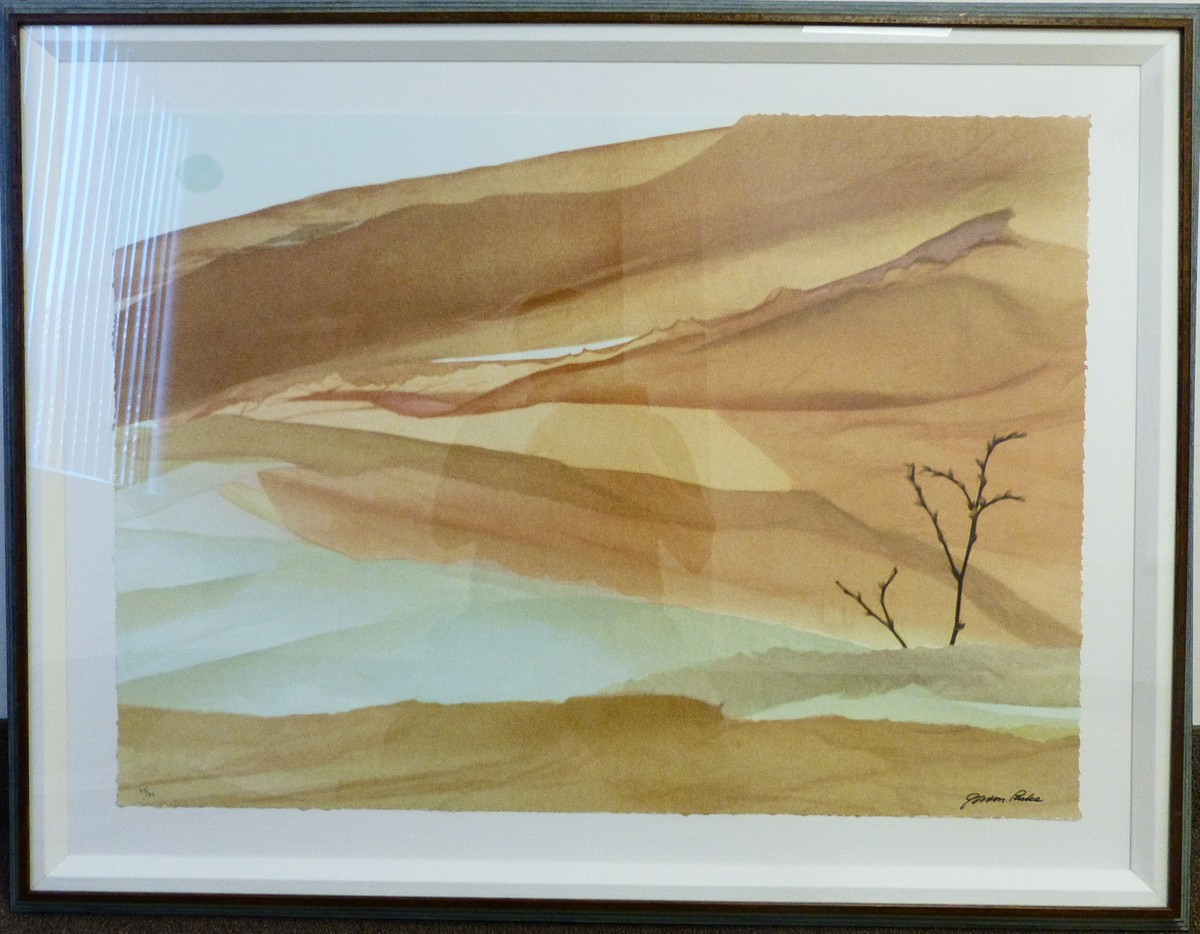 The Falling Tree  Lithograph 27 x 37 in. 36 1/2 x 47 1/2 in. framed 48/90 Hand-signed and numbered