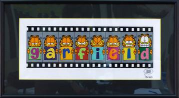 Garfield 16 3/4 x 15 in. framed