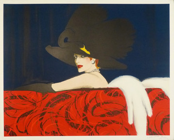 Leda  1988 Lithograph 37 3/4 x 47 in. Hand-signed and dedicated lower right