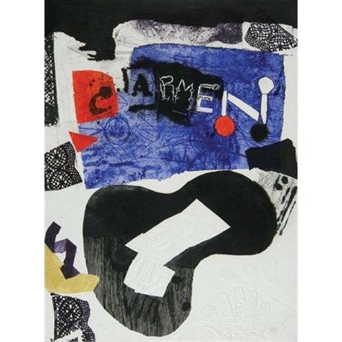 Antonio Clave 'Carmen' 1978 Lithograph 36 x 24 in. 197/250