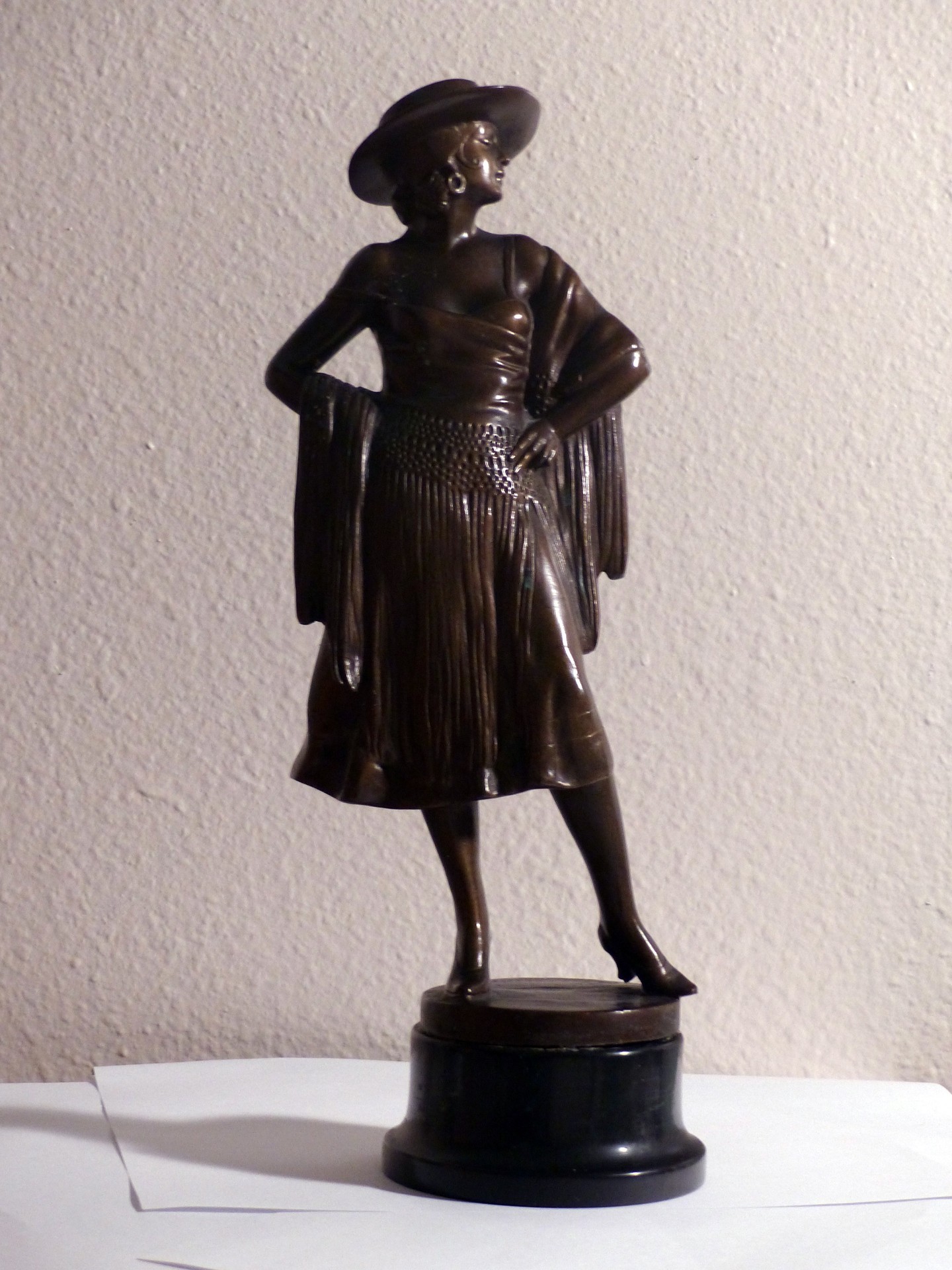 Patinated bronze 14 1/2 in. Signed 'Barner' on base