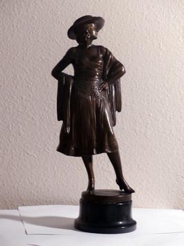 Patinated bronze 14 1/2 in. Signed 'Barner' on base
