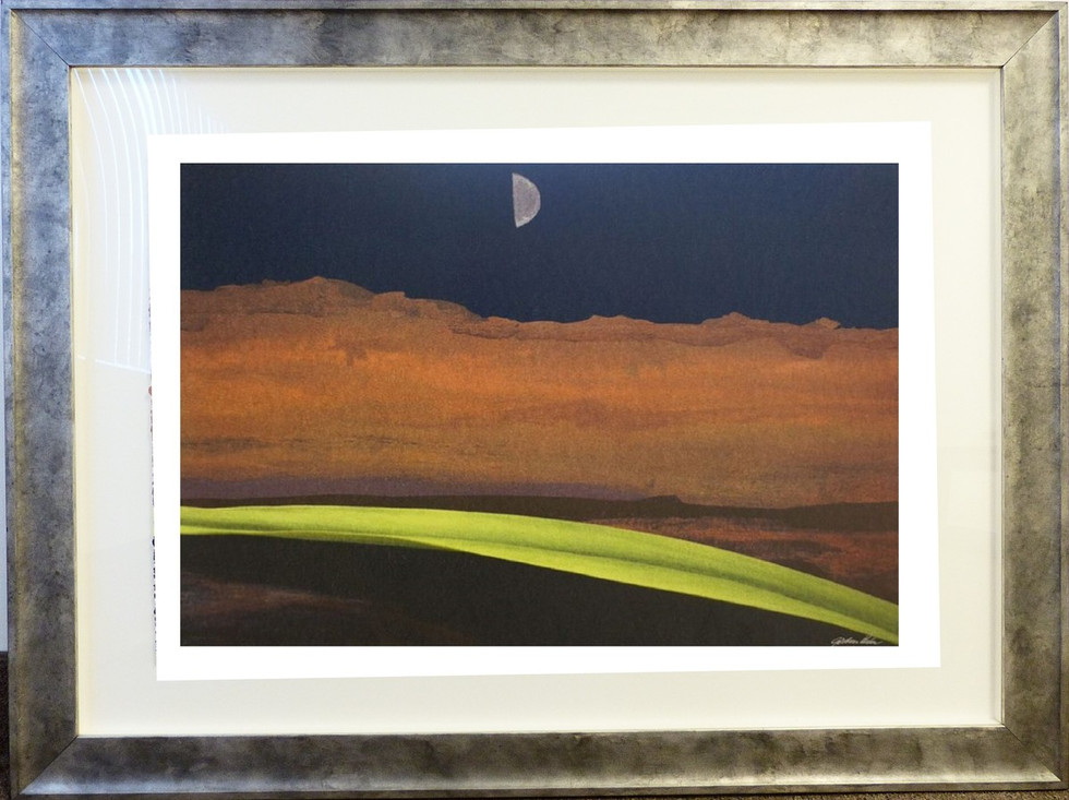 The Road  Lithograph 22 x 33 in. 34 1/2 x 46 in. framed 60/90 Hand-signed and numbered