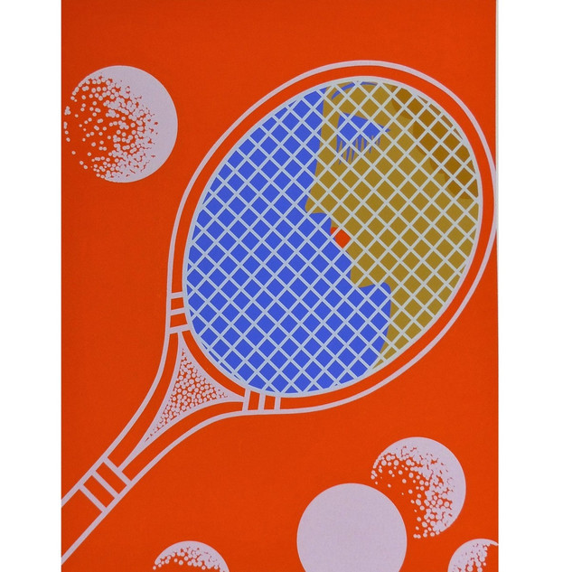 Tennis Serigraph 28 x 20 in. 123/260 Hand-signed and numbered
