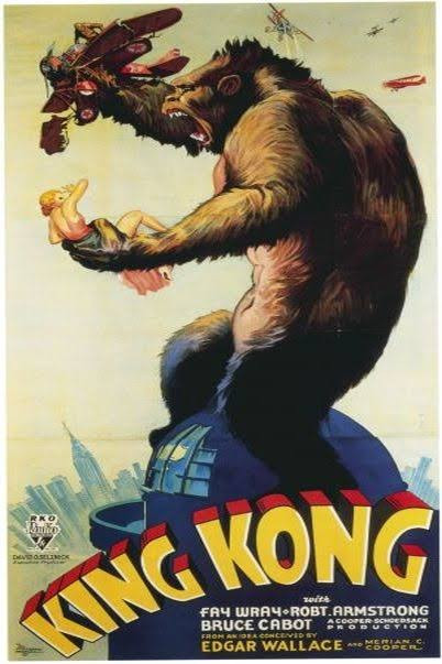 King Kong Recreated lithograph poster Hand-signed by Fay Wray