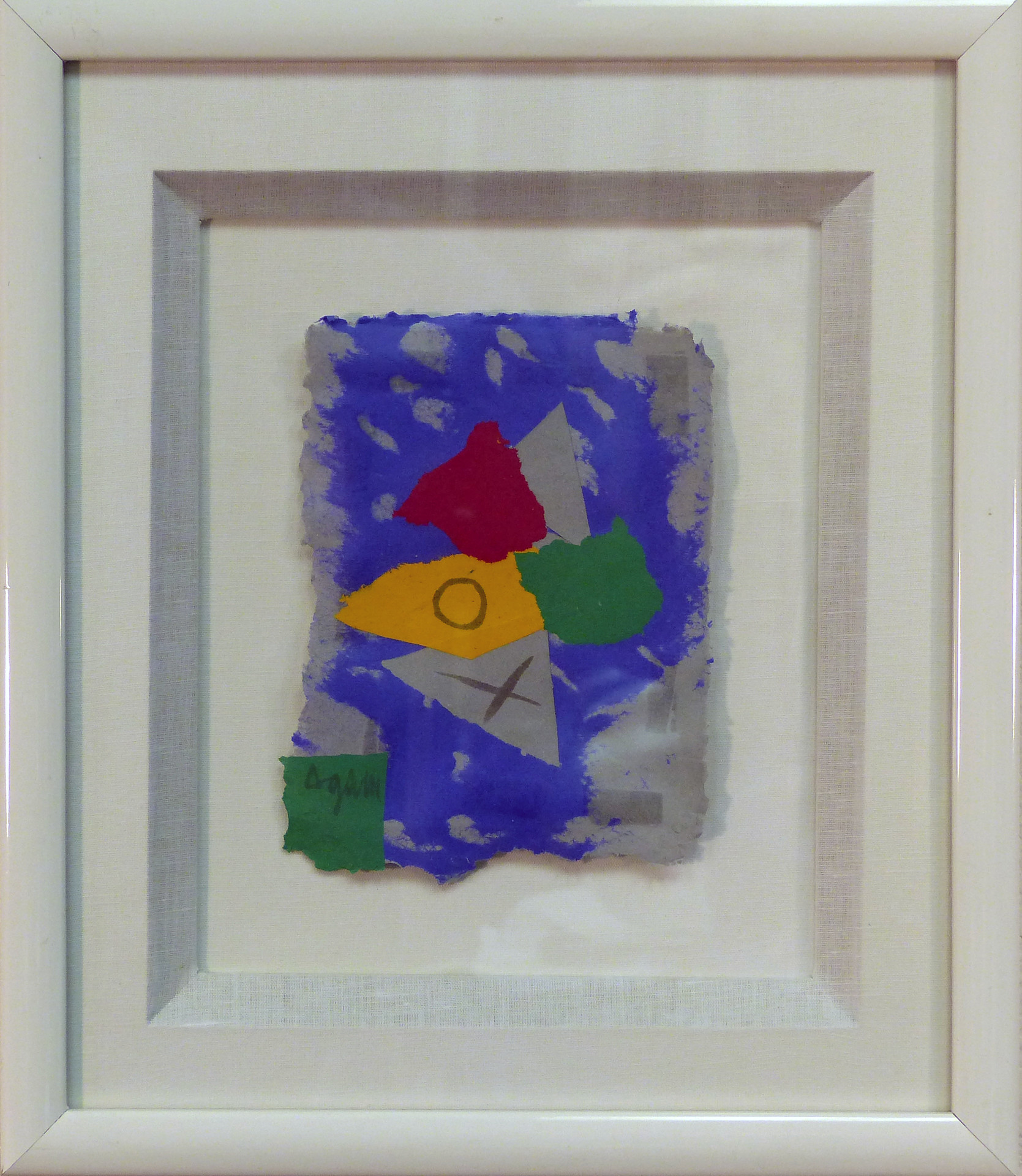 Yaacov Agam/Frank Gallo Mixed media on cast   paper 15 x 12.5 in. Hand-signed lower left   Unique Work