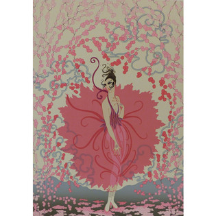 Pink Lady Serigraph 25 x 18 in. 158/300 Hand-signed and numbered