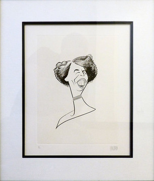 Eleanor Roosevelt 1953  Lithograph 13 x 10 in. 21 1/2 x 19 in. framed 82/100 Hand-signed and numbered