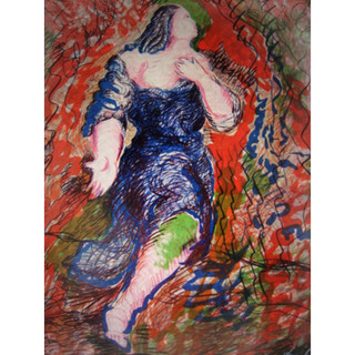 Sandro Chia 'Il Trovatore' 1984 Lithograph on paper 198/250 199/250 Hand-signed and numbered