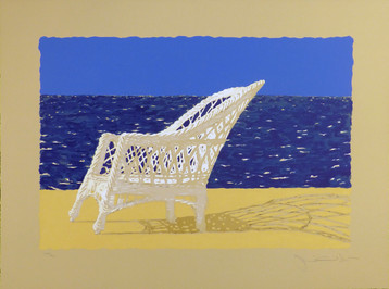 The Wicker Chair 1979 Lithograph 15 x 22 in. image  21 x 28 in. sheet ed. 300 Hand-signed and numbered