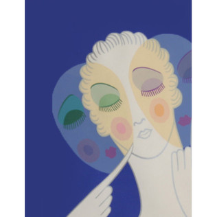 Three Faces Serigraph 30 x 24 in. 150/260 Hand-signed and numbered