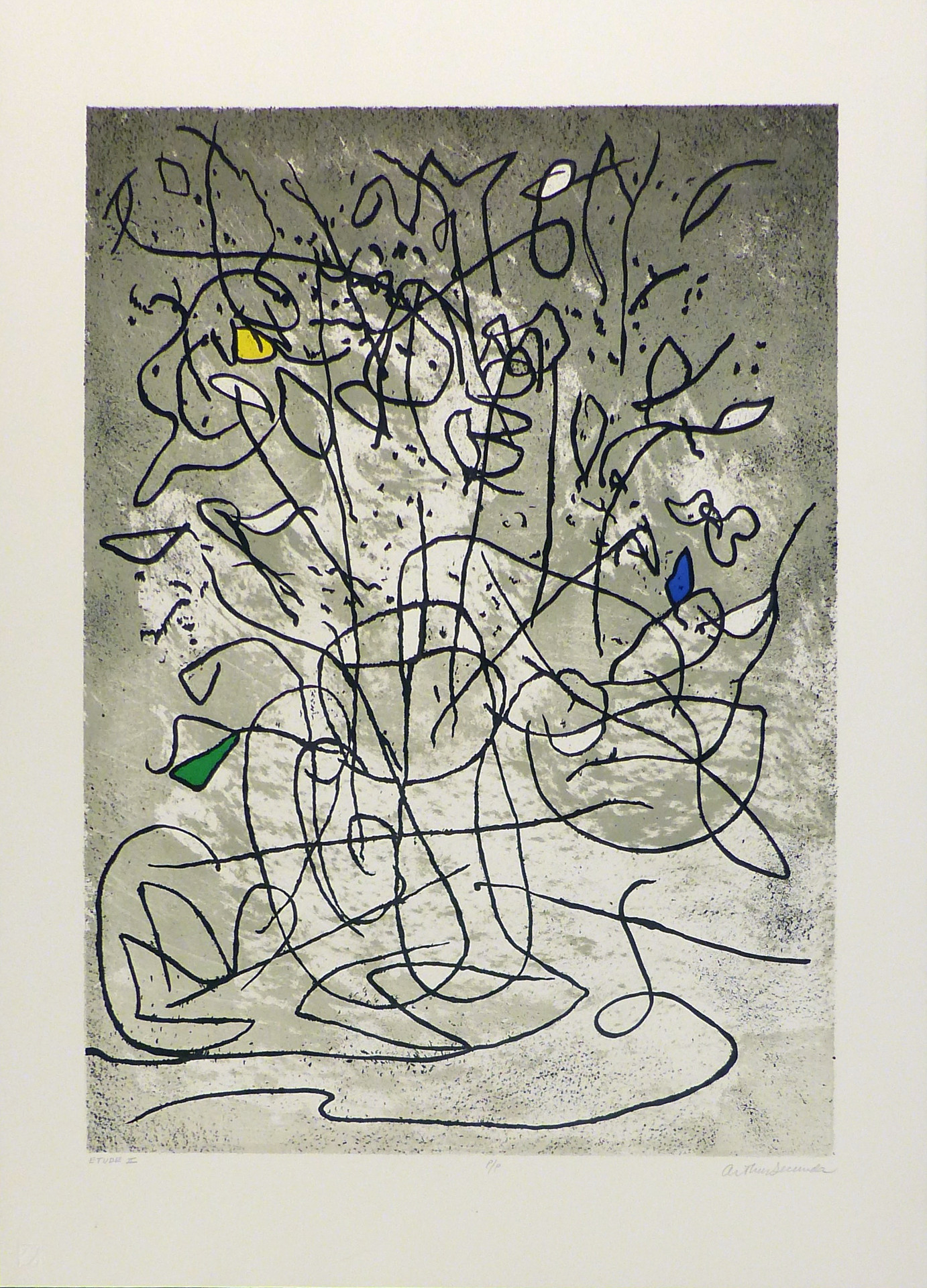 Etude II Lithograph 21 x 28 1/2 in. PP