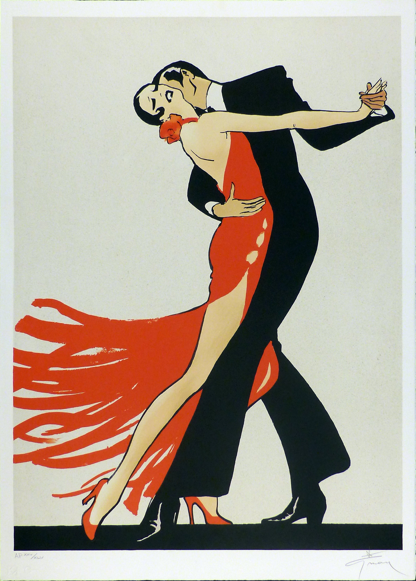 Tango  1990  Lithograph 30 x 21 1/4 in. AP XXV/XLV Hand-signed lower right