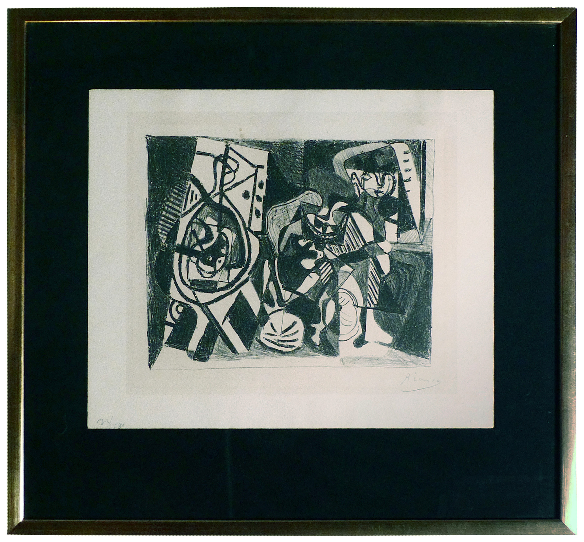 Scene d'Interieur  1926 Lithograph on tinted wove paper 8 3/4 x 10 15/16 in.  23/100 Hand-signed and numbered