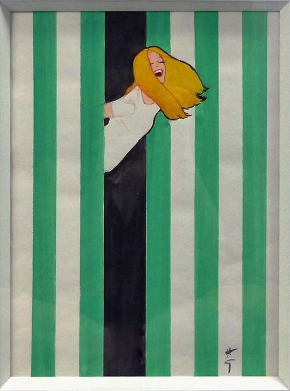La Belle Jeane Gouache on paper 27 x 22 in. Hand-signed