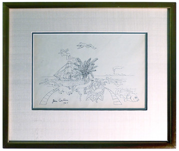 Les Vacances 1921 Graphite on paper 17 x 15 in. Hand-signed