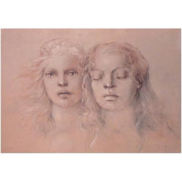 Leonor Fini 'Tristan and Isolde' 1978 Lithograph 197/250
