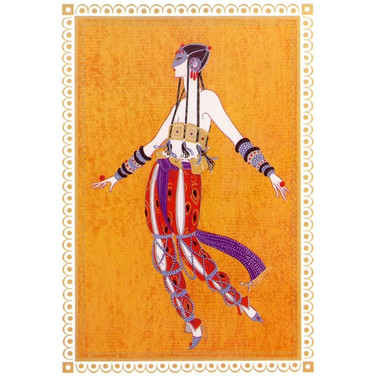 Arabian Dancer 1988 Lithograph 17 x 10 in. 236/300 45/300 Hand-signed and numbered