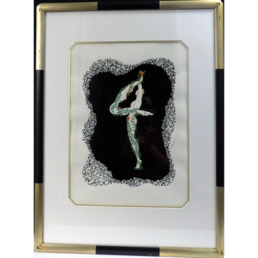 4 1980 Lithograph 16 1/2 x 12 in. 39 1/2 x 24 in. framed 26/350 AP 1/29 Hand-signed and numbered