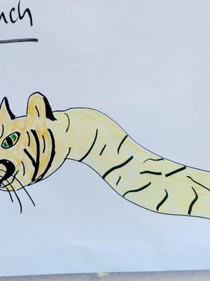 Ein Tigerschlauch als Küchenprodukt