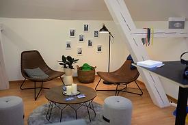Denkdach by Soulworxx. Eine Projektwerkstatt, ein Kreativraum, Videostudio und Webinar-Raum zum Mieten.