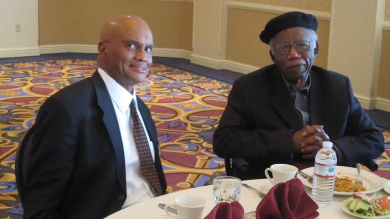 With Chinua Achebe Dec 5 2010.JPG