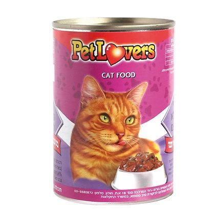 מזון לחתולים בטעם נתחי בשר וכבד